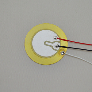 27mm piezoelectric ceramic disc with leads
